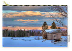 Carry-all Pouch featuring the photograph Foster Covered Bridge - Cabot, Vermont by Joann Vitali