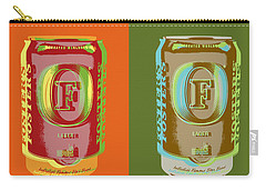 Carry-all Pouch featuring the digital art Foster's Lager Pop Art by Jean luc Comperat