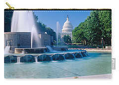Fountain And Us Capitol Building Carry-all Pouch