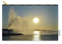 Carry-all Pouch featuring the photograph Fountain At Sunrise  by Lyle Crump