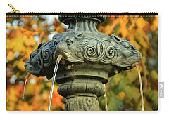 Carry-all Pouch featuring the photograph Fountain At Union Park by Chris Berry