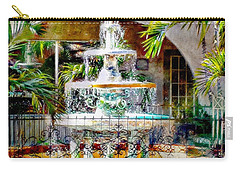Fountain Of Water Carry-all Pouch by Barbara Chichester