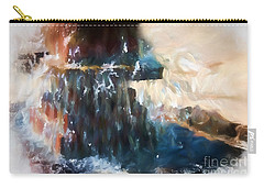 Carry-all Pouch featuring the digital art Fountain Pleasure by Margie Chapman