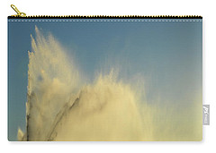 Carry-all Pouch featuring the photograph Fountain Spray  by Lyle Crump