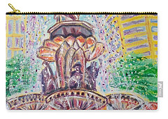 Carry-all Pouch featuring the painting Fountain Square  Cincinnati  Ohio by Diane Pape
