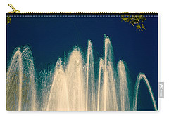 Fountain Stream By Night Carry-all Pouch by Vlad Baciu