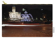 Fountaine De Tourny And Quebec Parliament Carry-all Pouch by John Schneider