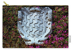 Carry-all Pouch featuring the photograph Fountains And Flowers At The Roman Walls In Tarragona by Eduardo Jose Accorinti