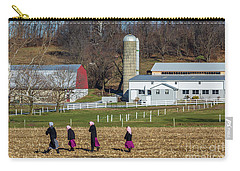 Four Amish Women In Field Carry-all Pouch