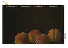 Four Apricots On A Stone Plinth Carry-all Pouch