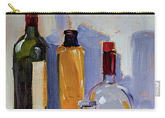 Carry-all Pouch featuring the painting Four Bottles by Nancy Merkle