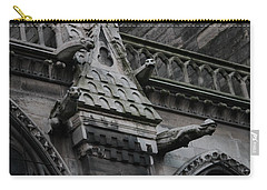 Four Gargoyles On Notre Dame North Carry-all Pouch by Christopher Kirby