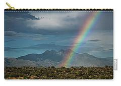 Carry-all Pouch featuring the photograph Four Peaks Rainbow  by Saija Lehtonen