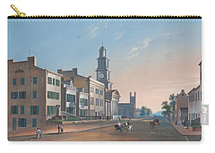 Fourth Street. West From Vine Carry-all Pouch by John Caspar Wild