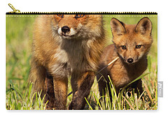 Fox Family Carry-all Pouch by Mircea Costina Photography