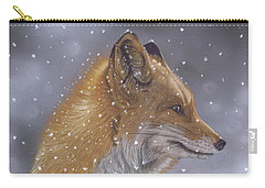 Fox In A Flurry Carry-all Pouch
