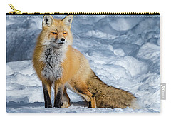 Fox On A Winter Afternoon Carry-all Pouch