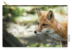 Fox Profile Carry-all Pouch by Lisa L Silva
