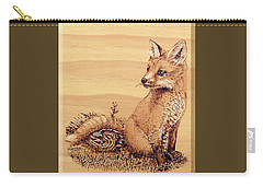 Fox Pup Carry-all Pouch by Ron Haist