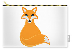 Fox Sitting Illustration Carry-all Pouch