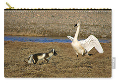 Fox Vs Swan Carry-all Pouch by Anthony Jones