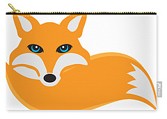 Fox With Tail Illustration Carry-all Pouch