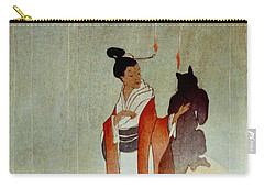 Carry-all Pouch featuring the photograph Fox Woman 1912 by Padre Art