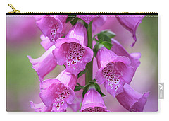 Carry-all Pouch featuring the photograph Foxglove Flowers by Edward Fielding