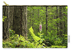 Carry-all Pouch featuring the photograph Foxglove In The Woods by Jean Noren