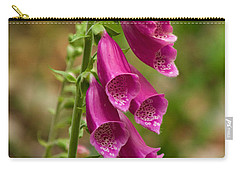 Carry-all Pouch featuring the photograph Foxglove by Sean Griffin