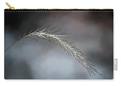 Carry-all Pouch featuring the photograph Foxtail - Abstract Art by Kerri Farley