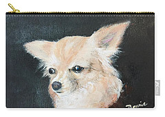 Carry-all Pouch featuring the painting Foxy Lady  by Bonnie Heather