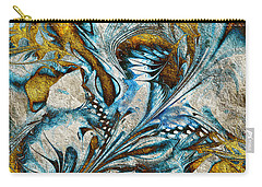 Carry-all Pouch featuring the digital art Fractal Design by Klara Acel