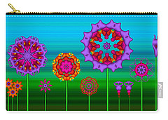 Whimsical Fractal Flower Garden Carry-all Pouch