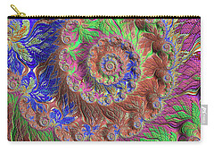 Carry-all Pouch featuring the digital art Fractal Garden by Bonnie Bruno