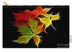 Fractal Leaves Carry-all Pouch
