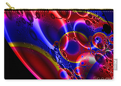 Fractal Luminescent Coloured Moon Carry-all Pouch