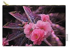Fractal Meets Camellia  Carry-all Pouch