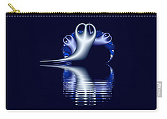 Fractal Peeble Ghosts Carry-all Pouch