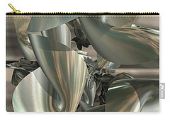 Fractal Ribbons Carry-all Pouch by Melissa Messick