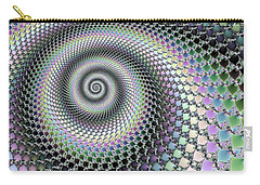 Carry-all Pouch featuring the digital art Fractal Spiral Hypnotizing Op Art by Matthias Hauser