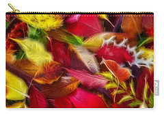 Carry-all Pouch featuring the photograph Fractalius Leaves by Shane Bechler