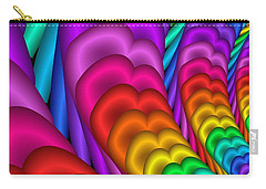 Fractalized Colors -10- Carry-all Pouch