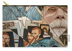 Carry-all Pouch featuring the painting Fractured Lives by Ron Richard Baviello