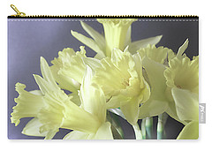 Carry-all Pouch featuring the photograph Fragile Daffodils by Jacqi Elmslie