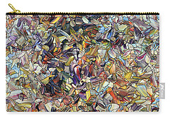 Carry-all Pouch featuring the painting Fragmented Horse by James W Johnson