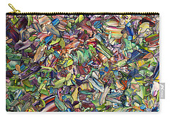 Carry-all Pouch featuring the painting Fragmented Spring by James W Johnson