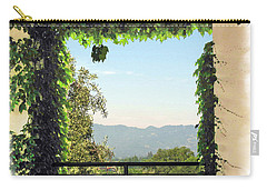 Carry-all Pouch featuring the photograph Framing Napa Valley by Joan  Minchak