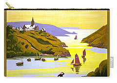 France Bretagne Vintage Travel Poster Restored Carry-all Pouch