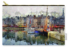 Carry-all Pouch featuring the photograph France Fishing Village by Claire Bull